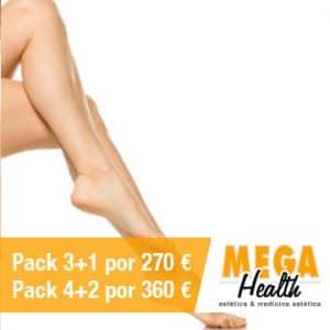 Depilación láser medias piernas - Mega Health, centro de depilación en Palma de Mallorca