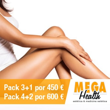 Depilación láser piernas completas - Mega Health, centro de depilación en Palma de Mallorca