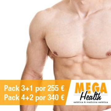 Depilación láser tórax y abdomen - Mega Health, centro de depilación en Palma de Mallorca