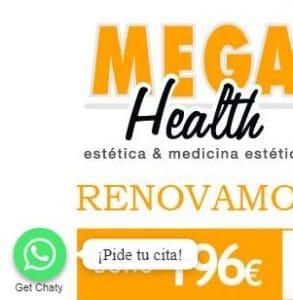 Cita previa a través de WhatsApp en Mega Health.