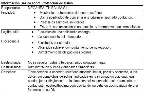 Aviso legal y política de privacidad