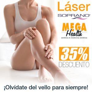 Descuento en depilación láser SOPRANO - Mega Health, Palma de Mallorca.