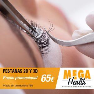 Oferta especial en extensiones de pestañas 2D y 3D en Palma de Mallorca - Mega Health